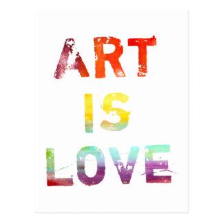 Art Is Love Postcard