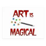 Art is Magical Postcard