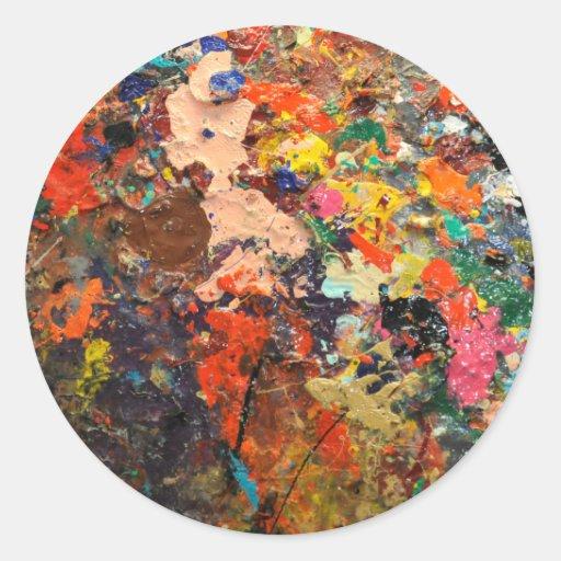 Art is Messy Classic Round Sticker
