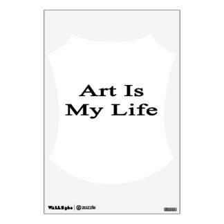 Art Is My Life Wall Stickers