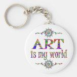 Art is My World Key Chains