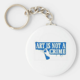 Art is Not a Crime Basic Round Button Keychain