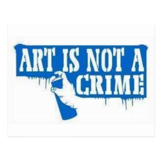 Art is Not a Crime Postcard