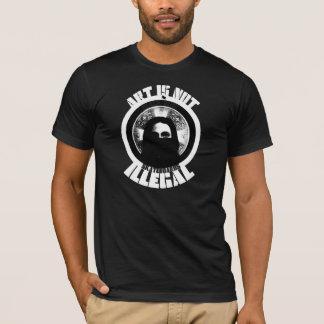art is not illegal - black bloc skateboards T-Shirt