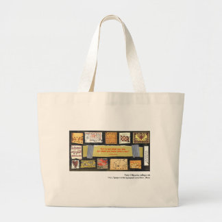 """""""Art is not..."""" Patty O'Rourke collage art bag"""