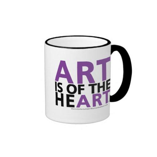 ART IS OF THE HEART RINGER MUG