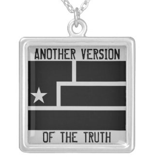 Art Is Resistance Gray background Square Pendant Necklace