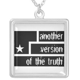 Art Is Resistance White background Another version Square Pendant Necklace