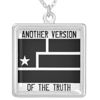 Art Is Resistance White background Square Pendant Necklace