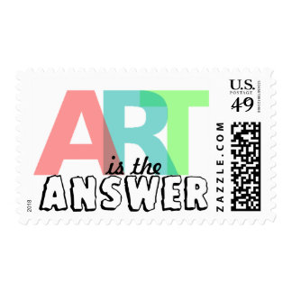 ART is the Answer Postage Stamps Postage Stamps
