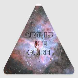 art is the cure triangle sticker