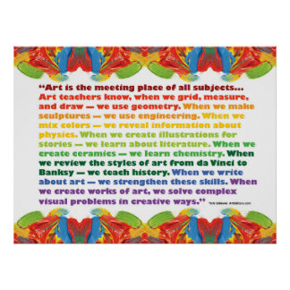 Art is the meeting place poster