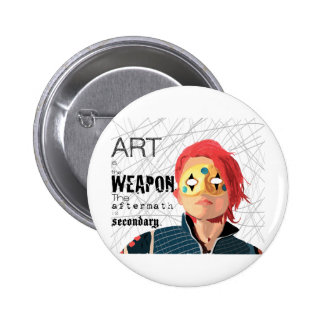 Art is the Weapon Pin