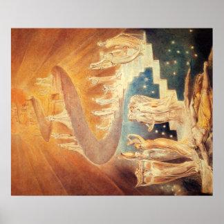 Art Jacobs ladder William Blake Poster