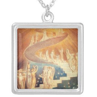 Art Jacobs ladder William Blake Square Pendant Necklace