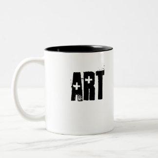 Art Junkie Two-Tone Coffee Mug