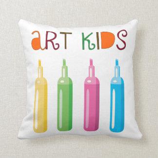 Art Kids Throw Pillow