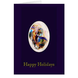 Art Koi Fish Elegant Happy Holidays Greeting Card