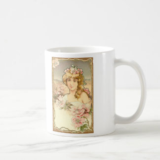 Art lady deco coffee mug
