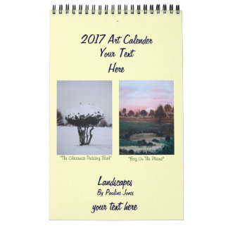 Art landscape snow and seasonal paintings 2017 calendar