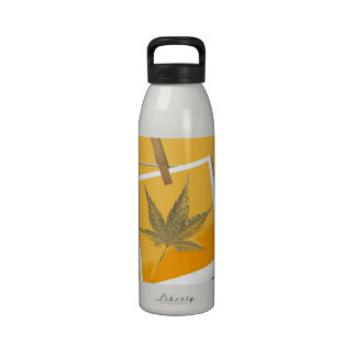 Art leaf 7 water bottles