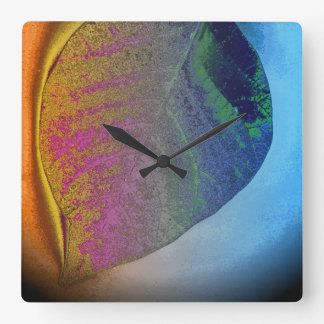 Art leaf autumn 3 square wall clock
