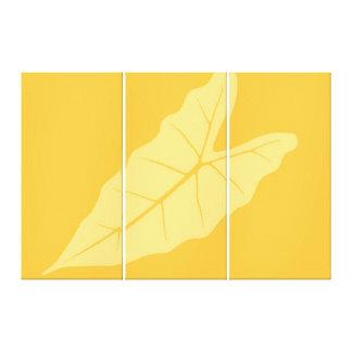 Art Leaf Yellow  Autumn 2 Canvas Print