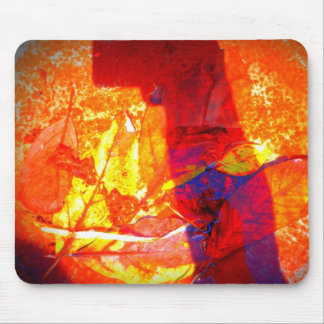 Art Leaves Mouse Pad