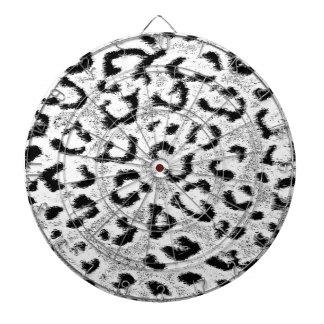 Art leopard fur 2 dartboard