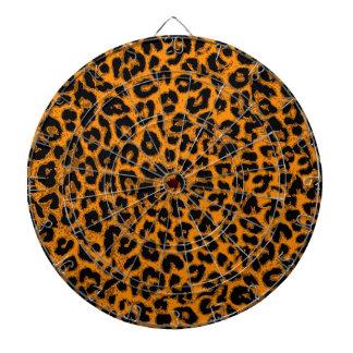 Art leopard fur dartboard