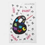 Art Letters kitchen Towel