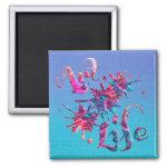 Art Life Colorful Paint Splatter Whimsical Artsy 2 Inch Square Magnet