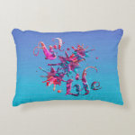 Art Life Colorful Paint Splatter Whimsical Artsy Accent Pillow