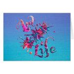 Art Life Colorful Paint Splatter Whimsical Artsy Card