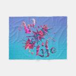 Art Life Colorful Paint Splatter Whimsical Artsy Fleece Blanket