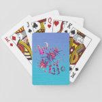 Art Life Colorful Paint Splatter Whimsical Artsy Poker Cards