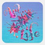 Art Life Colorful Paint Splatter Whimsical Artsy Square Sticker