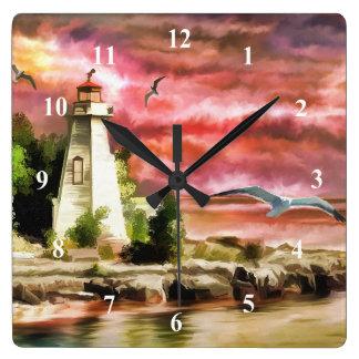 Art Lighthouse Wall Clock