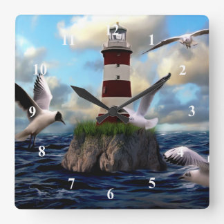 Art Lighthouse Wall Clock