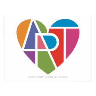 Art Lover's Heart® Postcard
