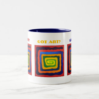 Art Lovers Two-Tone Coffee Mug