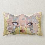 Art Lumbar Pillow - Even Pretty Girls Cry
