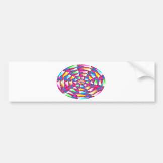 ART made of Flower Petals - GIFT one to yourself Bumper Stickers
