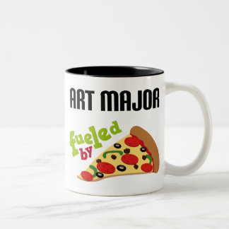Art Major Gift (Pizza) Two-Tone Coffee Mug