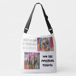 Art makes everything awesome crossbody bag
