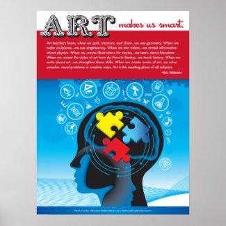 Art Makes Us Smart. Poster