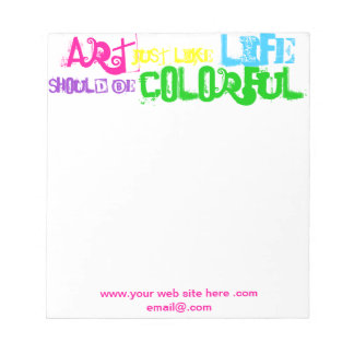 Art Marketing Notepad