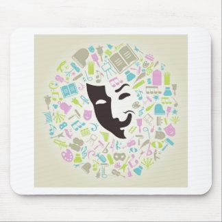 Art mask mouse pad