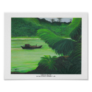 Art MEKONG DELTA print by R. Garrett, Sr. 8x10