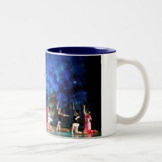 Art Mug: Sapphire Peacock Love. Menton Ballet Two-Tone Coffee Mug